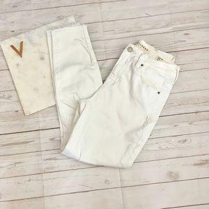 bullhead womens 25 high rise crop white jeans pacs